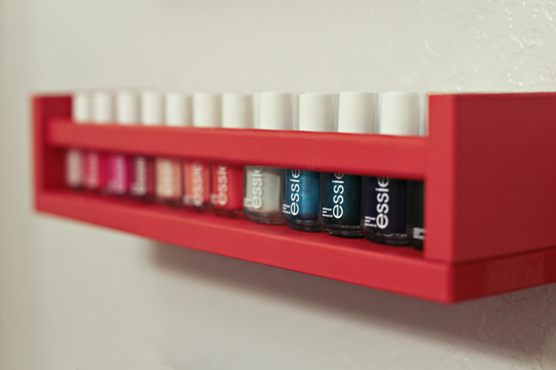 DIY Ish Nail Polish Rack