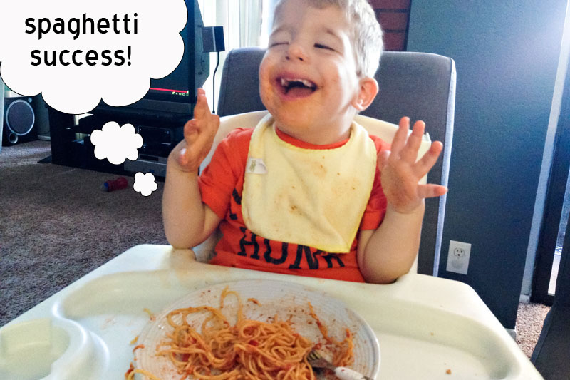 Stevie Fan Club {Toddler Eats Spaghetti}