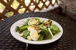 in the kitch, recipe, summer salad, spinach salad dressing