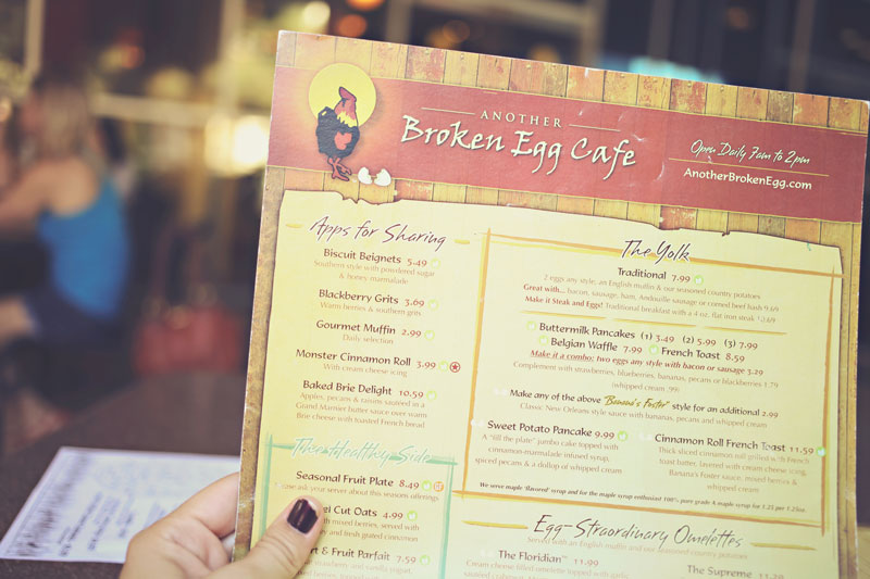 another broken egg cafe, fun weekend, going places, a local favorite