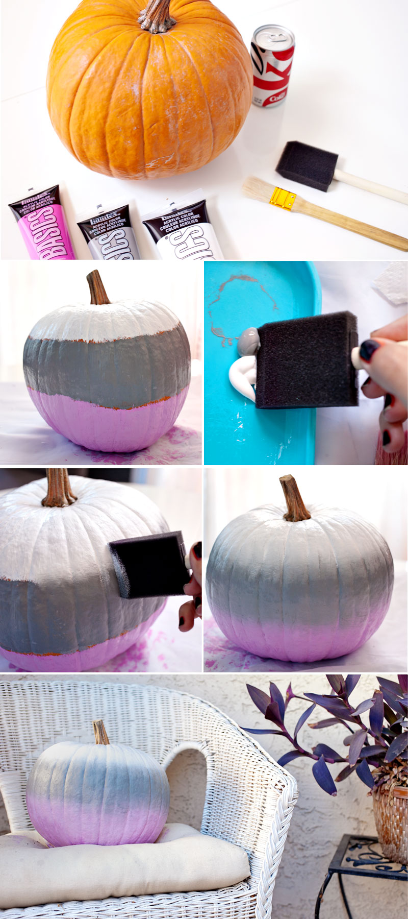 10 Stylish No Carve Pumpkin Decorating Ideas- A fun and easy way to decorate your home for fall on a budget, is with these 10 stylish no carve pumpkin decorating ideas!   #fallDecorating #fallPumpkins #craft #DIY #ACultivatedNest