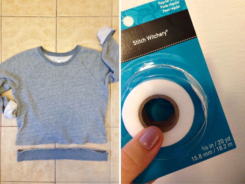 Sweatshirt Obsessed Diy No Sew Cropped Sweatshirt This