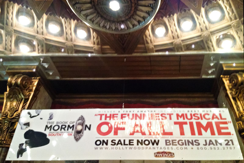 Book of Mormon Musical at the Pantages