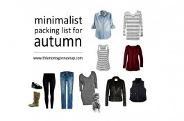 Minimalist Packing List for Autumn