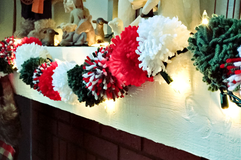 christmas crafting week pom pom garland this moms gonna snap