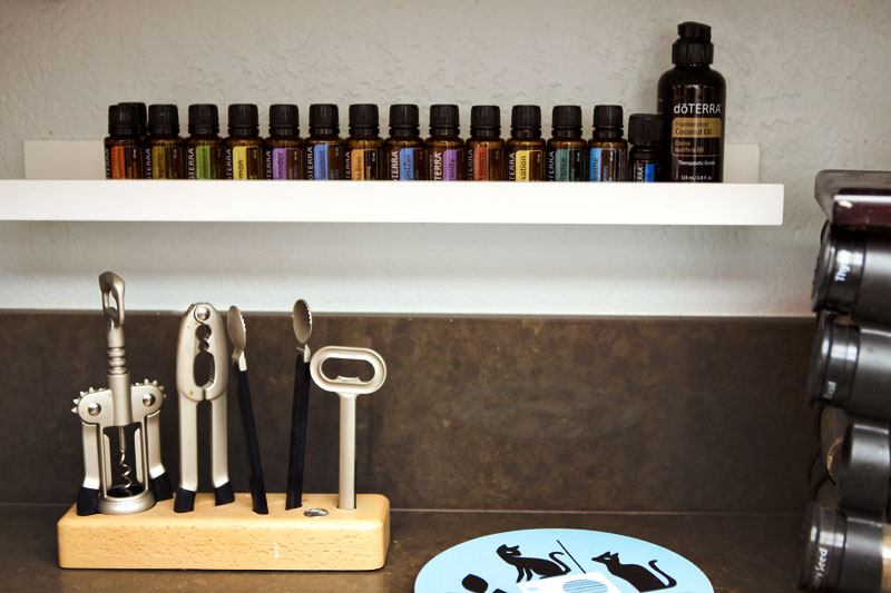 Essential Oils Storage Using IKEA Ribba Shelf