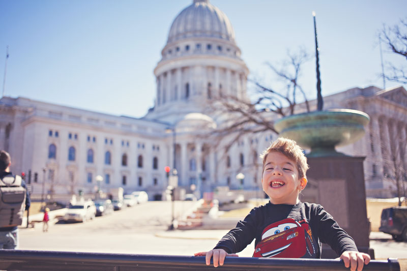 going places, family vacation, midwest trip, madison, wisconsin