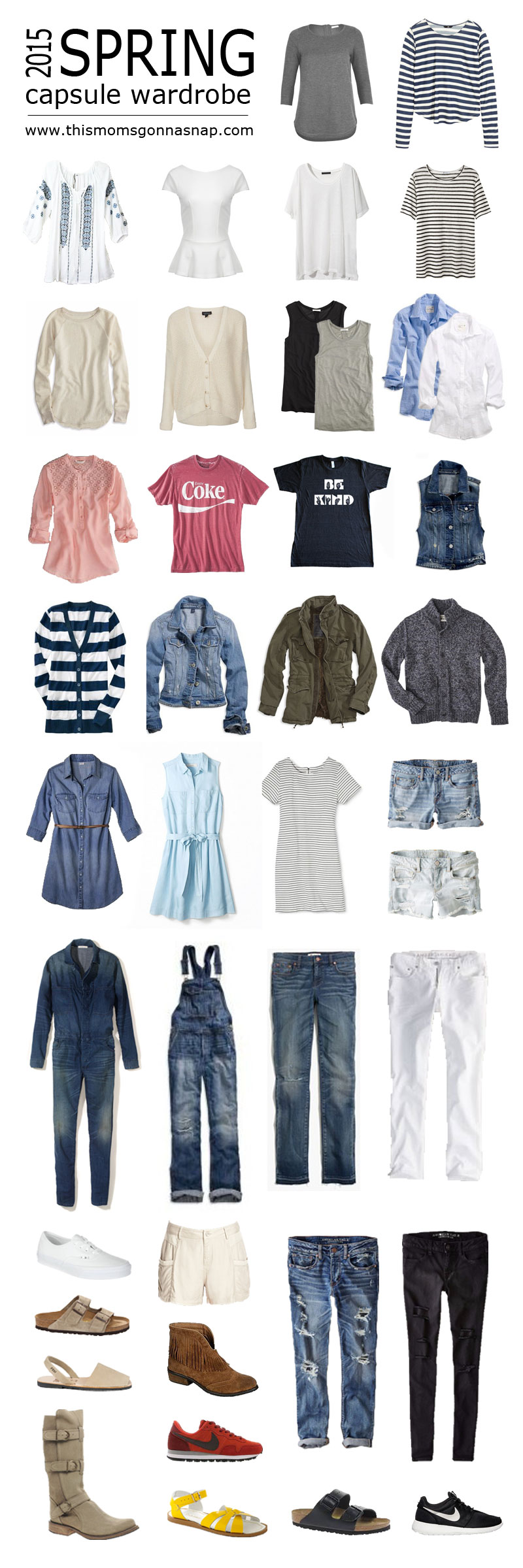 spring capsule wardrobe – this mom's gonna snap!