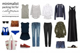 Minimalist Packing List for a CA Vacation
