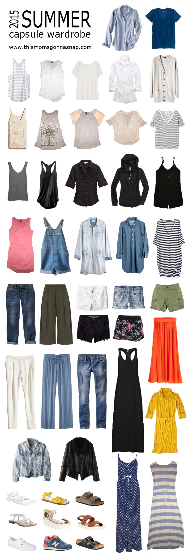 summer capsule wardrobe – this mom's gonna snap!