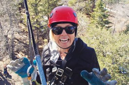 Ziplining in Wrightwood