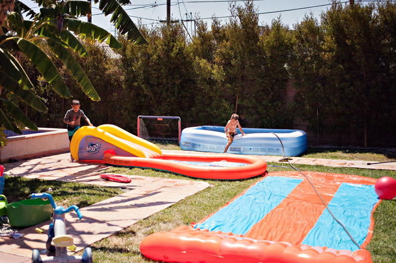 going places, cousins, fun week, backyard swimming solution, hot weather, los angeles
