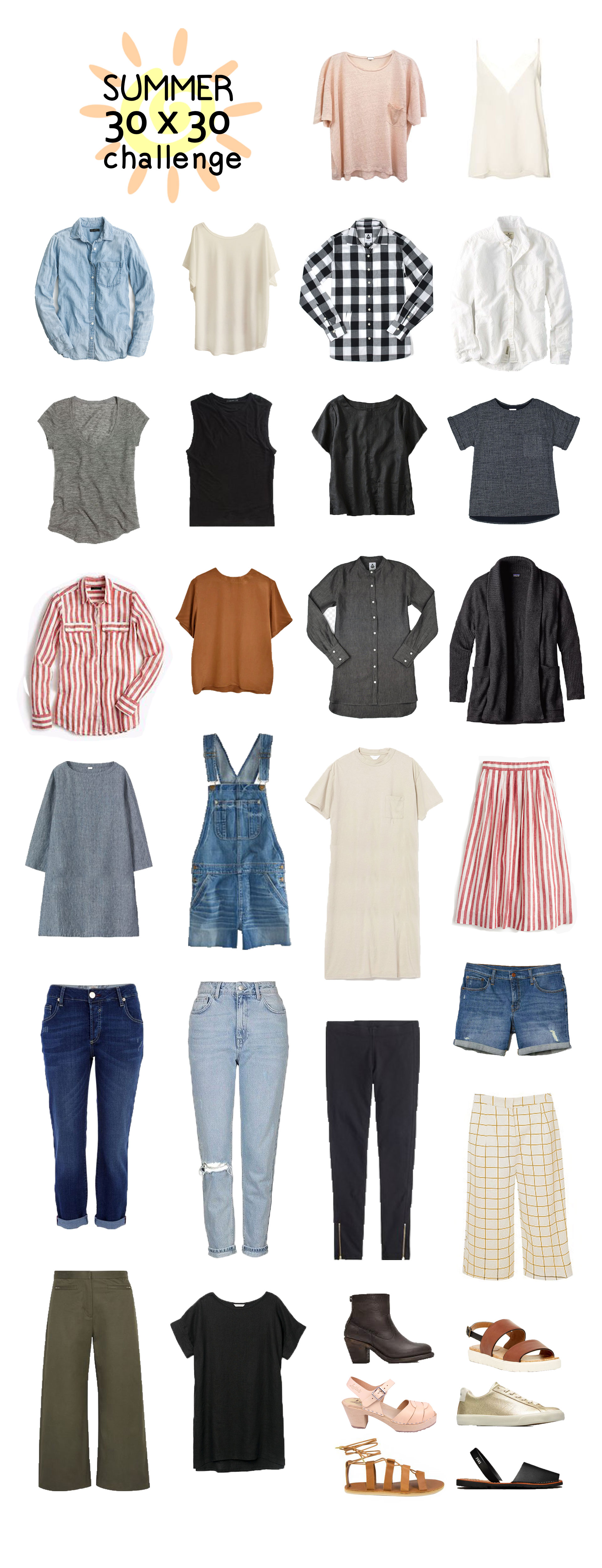 30x30, 30x30 wardrobe challenge, capsule wardrobe, ethical wardrobe. mini capsule, summer capsule, summer outfits, sustainable wardrobe, transitional capsule