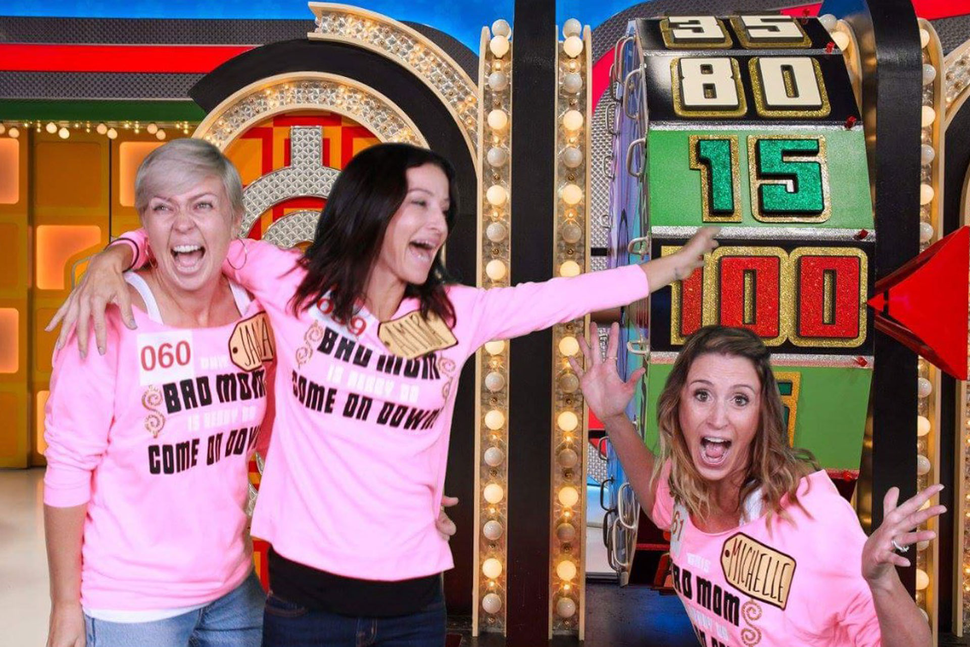 the price is right, bad moms christmas, #badmomsxmas, moms day out, live taping, cbs studios