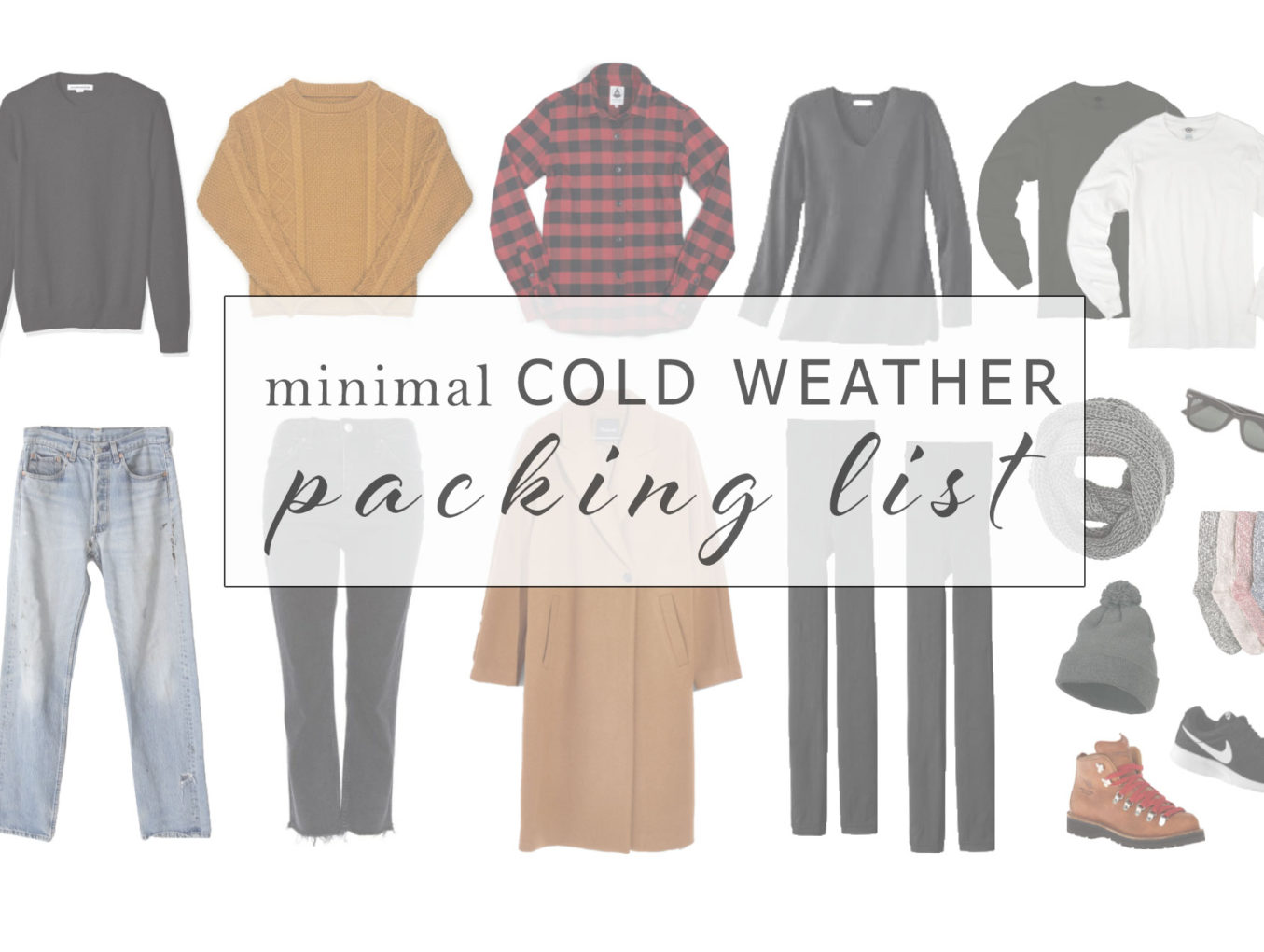 Minimal Cold Weather Packing List
